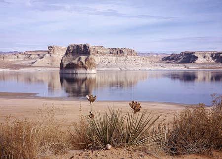 phenomena: Mountain by the lake.