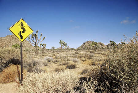 Road sign in a desert. Stock Photo - 3191137