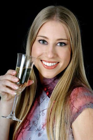 Woman holding a glass of wine. Stock Photo - 3191209
