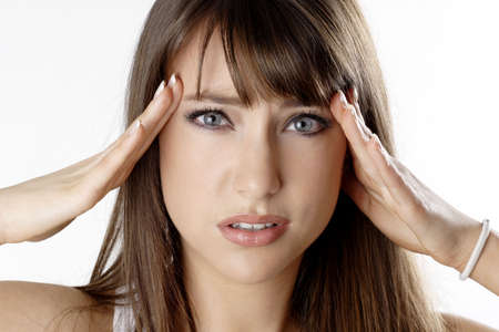 Woman having headache. Stock Photo - 3191272
