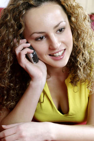 Woman talking on the mobile phone. Stock Photo - 3191309
