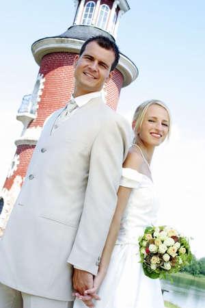 Newly wed couple. Stock Photo - 3191322