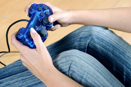 playing video game console. Stock Photo - 3191377