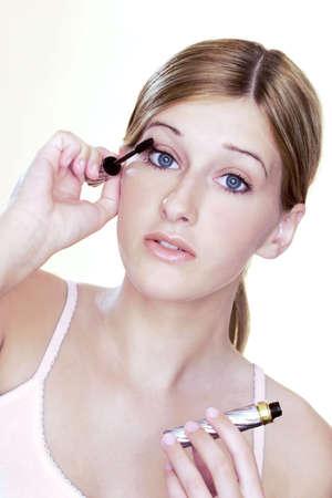 Woman applying mascara. Stock Photo - 3191390