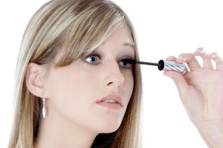 Woman applying mascara. Stock Photo - 3191437