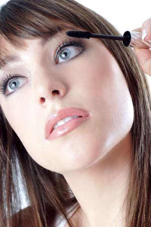 Woman applying mascara. Stock Photo - 3191451