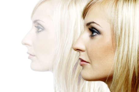 captivation: Side shot of a womans face.