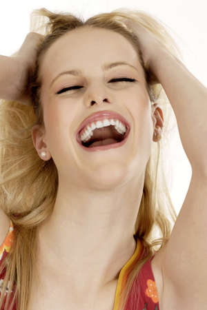 captivation: Woman laughing.