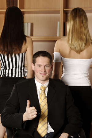 Businessman showing thumb up. Stock Photo - 3191556
