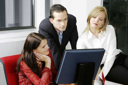 Corporate people working together. Stock Photo - 3191571