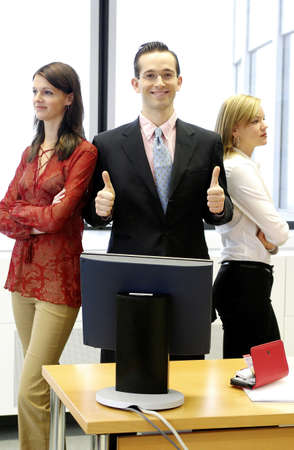 Businessman and his two assistants. Stock Photo - 3191573