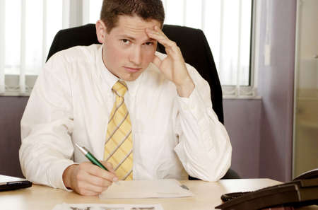 Businessman thinking. Stock Photo - 3191574