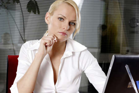 Businesswoman staring at the camera. Stock Photo - 3191576