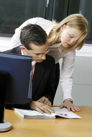 Businessman having discussion with her assistant. Stock Photo - 3191597