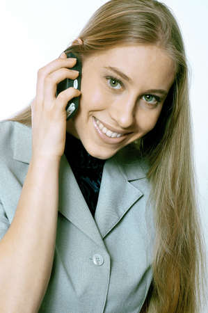 Businesswoman talking on the mobile phone. Stock Photo - 3191599