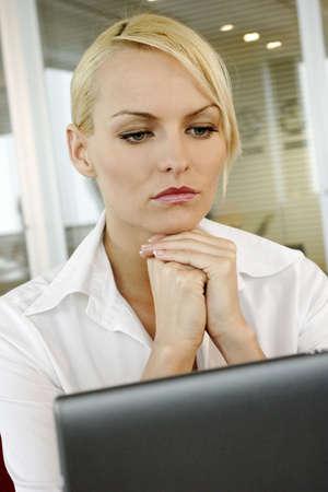 Businesswoman thinking. Stock Photo - 3191608