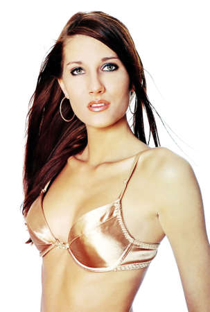 inner wear: Woman wearing silk bra.