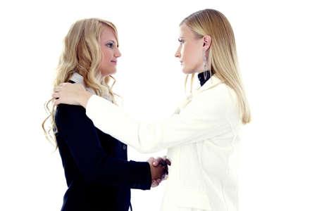 Businesswomen shaking hands Stock Photo - 3191842