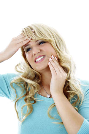 Woman having headache and toothache Stock Photo - 3191851
