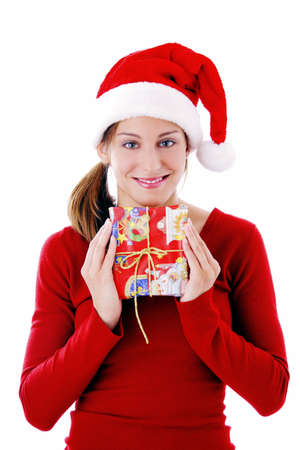 Woman holding a gift Stock Photo - 3191987