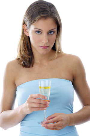 Woman holding a glass of champagne Stock Photo - 3191995