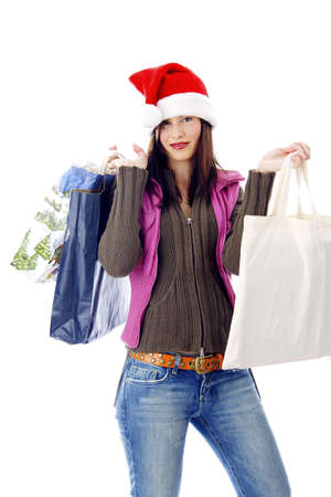 Happy woman holding shopping bags Stock Photo - 3191996