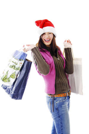 Happy woman holding shopping bags Stock Photo - 3192003