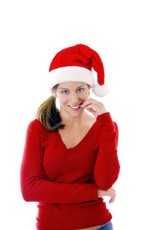 Woman in santa hat Stock Photo - 3192016
