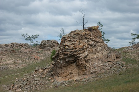 Rocks in steppes