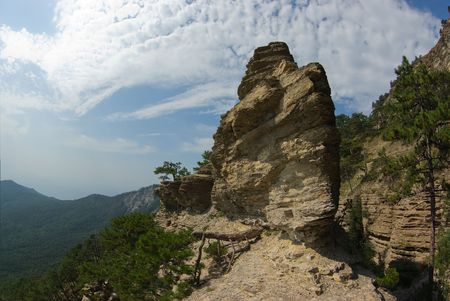 In the mountains of Crimea