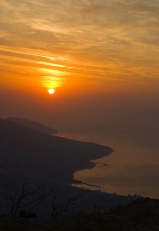 Crimean dawn Stock Photo