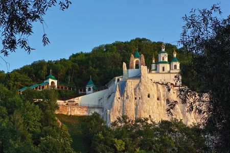 Nicholas Church in Svyatogorsk Laur Stock Photo
