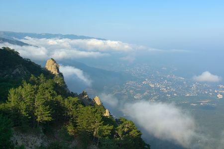 Clouds over Taraktash. Stock Photo