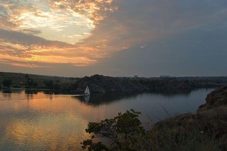 Sail at sunset.