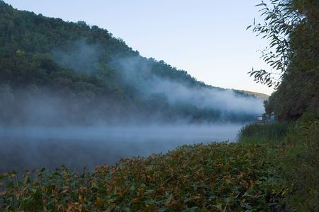 Fog over the river.