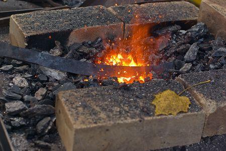 Heating the blank before hammering