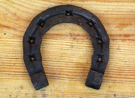 Horseshoe for good luck. Stock Photo