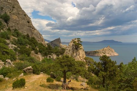In the mountains of Crimea.