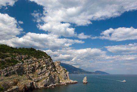 Clouds on the Crimean coast. Stock Photo
