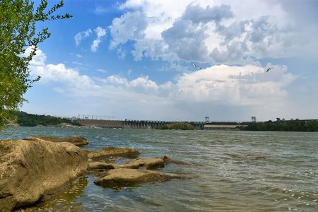 Clouds over the Dnieper photo