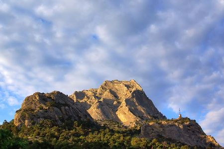 Mount Falcon at sunset