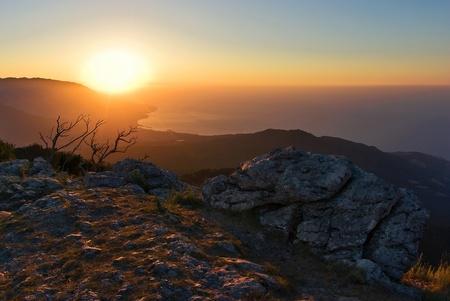 The sun rises! Stock Photo
