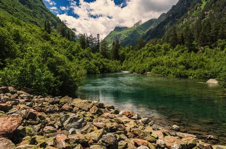 Caucasus, Lake Badukskoe Stock Photo