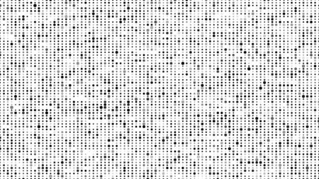 Abstract halftone texture. Dots background. Black particles of different sizes.