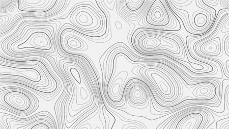 Topographic map on white background. Vector grid map.