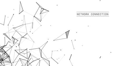 Abstract technology background. Network connection structure.