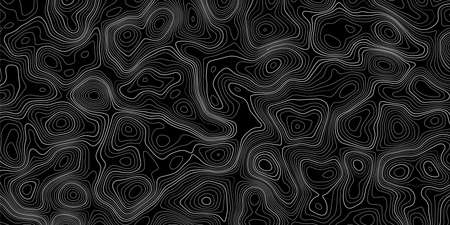 Topographic map on black background. Vector grid map. 일러스트