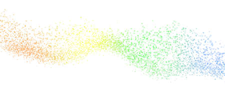 Abstract futuristic background. Big data visualization. Dynamic wave of particles. 3D rendering.