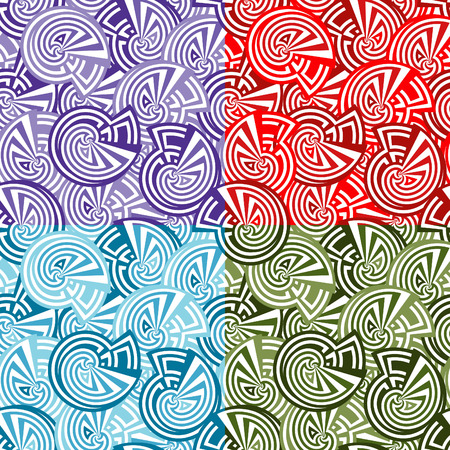seamlessly: Seamless vector texture with abstract circles