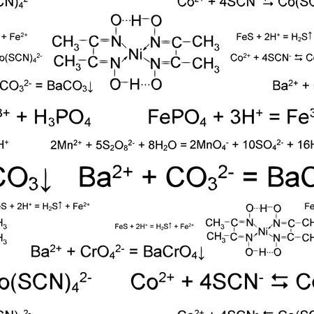 medical study: Scribbles di chimica della carta da parati di vettore di Seamlessly su bianco